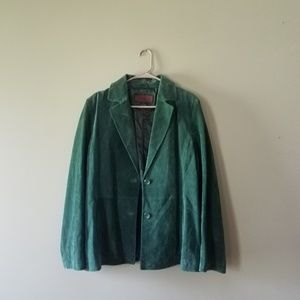 Siena vintage green leather jacket